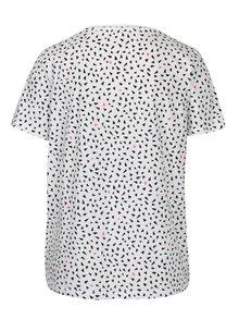 Černo-bílé vzorované tričko ONLY Kita