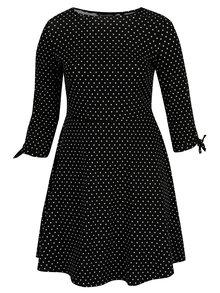 Rochie neagra cu buline si maneci 3/4 - Dorothy Perkins Curve
