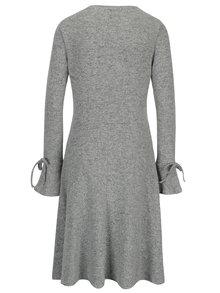 Šedé žíhané svetrové šaty s dlouhým rukávem Dorothy Perkins Tall