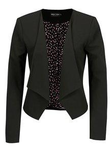 Čierne krátke sako so vzorovanou podšívkou ONLY Carolina