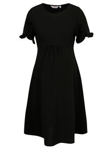 Čierne tehotenské šaty s volánmi Dorothy Perkins Maternity