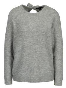 Sivý sveter s prestrihmi na chrbte Dorothy Perkins