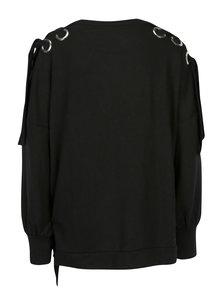 Čierna oversize mikina s kovovými detailmi ONLY Eisha