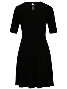 Čierne šaty s čipkovaným golierom Dorothy Perkins