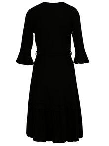 Čierne šaty s prekladaným výstrihom Dorothy Perkins