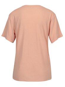 Tricou roz cu print logo pentru femei Puma