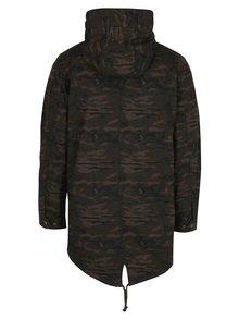 Kaki maskáčový kabát s kapucňou Jack & Jones New Bento