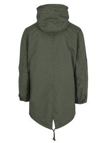 Zelený kabát s kapucňou Jack & Jones New Bento