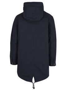 Tmavomodrý kabát s kapucňou Jack & Jones New Bento