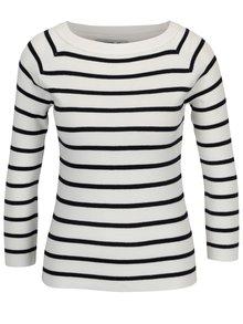 Krémový pruhovaný tenký sveter Haily's Lina