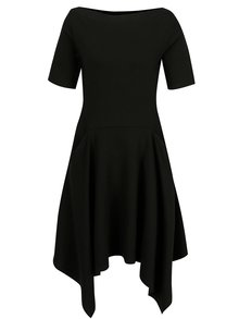 Čierne šaty s cípmi a vreckami Jana Minaříková