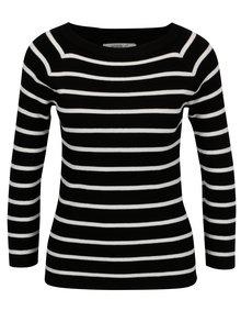 Čierny pruhovaný tenký sveter Haily's Lina