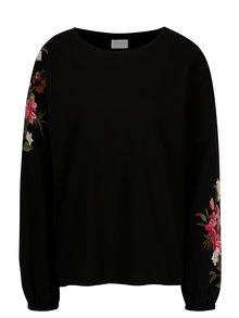 Bluza neagra cu broderie florala VILA Halia