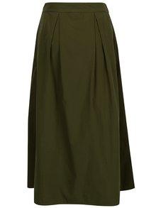 Zelená midi sukňa VILA Raja