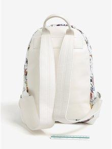 Biely koženkový batoh Pieces Ciane