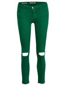 Zelené zkrácené skinny džíny s nízkým pasem TALLY WEiJL