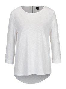 Biele tričko s 3/4 rukávom VERO MODA Malka