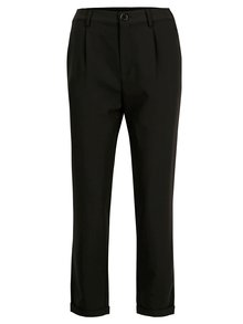 Čierne skrátené nohavice s vysokým pásom TALLY WEiJL