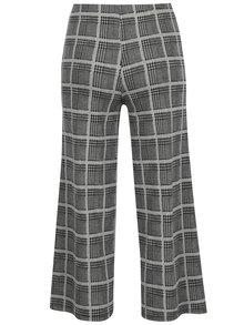 Černo-bílé kostkované culottes kalhoty TALLY WEiJL