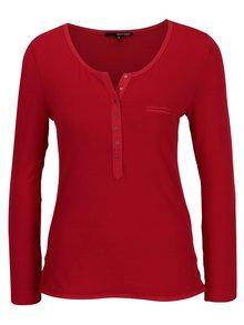 Červené tričko s gombíkmi a dlhým rukávom TALLY WEiJL