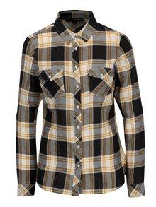 Krémovo-čierna károvaná košeľa TALLY WEiJL