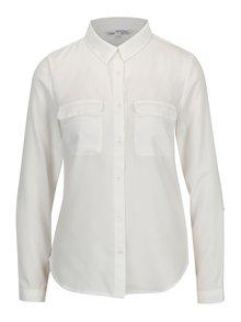Krémová priesvitná košeľa s vreckami TALLY WEiJL