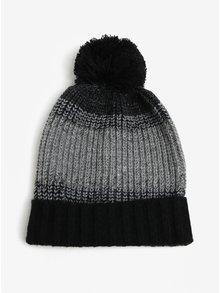 Caciula de iarna negru cu gri cu pompon Burton Menswear London