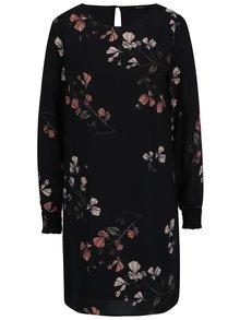 Tmavomodré kvetované šaty VERO MODA Hallie