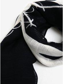 Čierno-biela pruhovaná šatka Calvin Klein Jeans