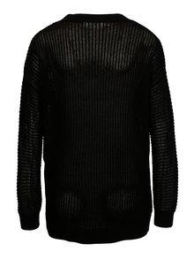 Pulover asimetric negru cu maneci raglan VERO MODA Castiel