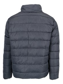 Modrá melírovaná prešívaná zimná bunda Burton Menswear London