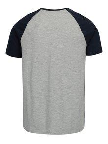 Modro-sivé tričko s potlačou Burton Menswear London