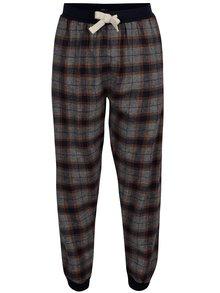 Pantaloni de pijama cu snur in talie si carouri Burton Menswear London