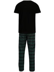 Černo-zelené pyžamo Burton Menswear London