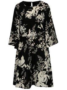 Čierno–biele kvetované šaty VERO MODA Kana