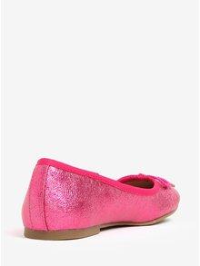 Balerini roz glossy cu fundita - Tamaris