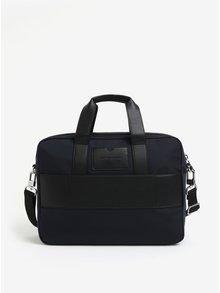 Tmavomodrá pánska taška na notebook Tommy Hilfiger Elevated