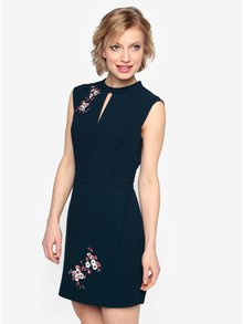 Tmavomodré šaty s výšivkami Oasis Blossom
