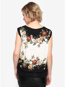 Čierno-biela kvetovaná blúzka Oasis Rosetti