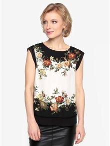 Černo-bílá květovaná halenka Oasis Rosetti