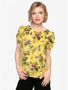 Žltá kvetovaná blúzka Oasis Rosetti