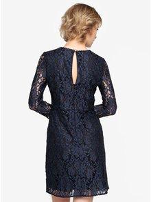 Tmavomodré čipkované šaty Oasis Two tone