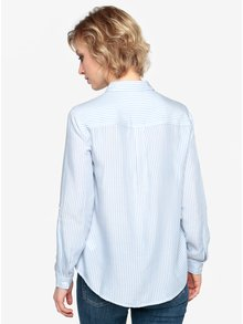 Modro-biela pruhovaná košeľa s výšivkami Oasis Chintz