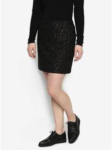 Čierna vzorovaná sukňa s detailmi v zlatej farbe Oasis Spot