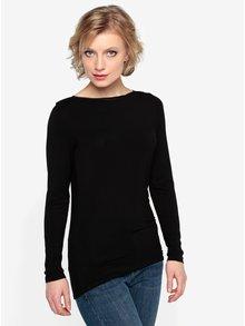 Čierne tričko s dlhým rukávom Oasis Plain