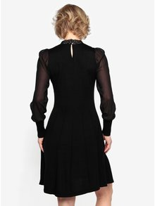 Rochie pulover neagra cu guler din dantela  Oasis Lace