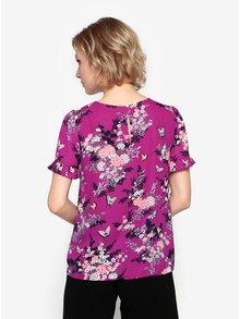 Fialová květovaná halenka Oasis Kimono