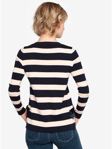 Béžovo-modrý pruhovaný sveter s mašľami Oasis Bow