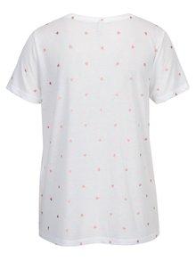 Biele vzorované tričko ONLY Isabella