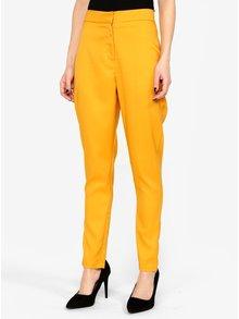 Hořčicové kalhoty s vysokým pasem MISSGUIDED